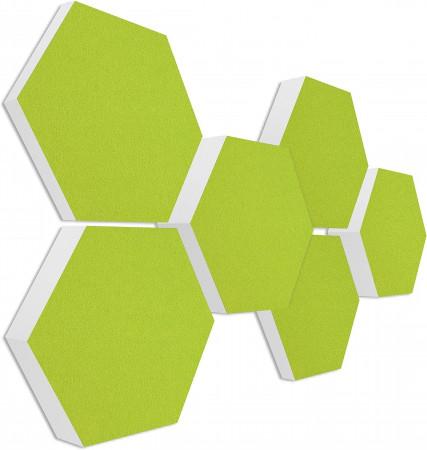 6 Absorber Wabenform Basotect ® G+ Colore HELLGRÜN / je 2 Stück 300 x 300 x 30/50/70mm