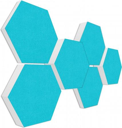 6 Absorber Wabenform Basotect ® G+ Colore TÜRKIS / je 2 Stück 300 x 300 x 30/50/70mm