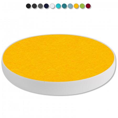 Basotect ® G+ / 1x Ronde Kreis Durchmesser 400 mm / 50 mm dick (Sonnengelb)