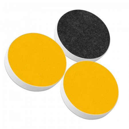 3 Basotect ® G+ Akustik Schallabsorber Kreis Multicolore-Set 24
