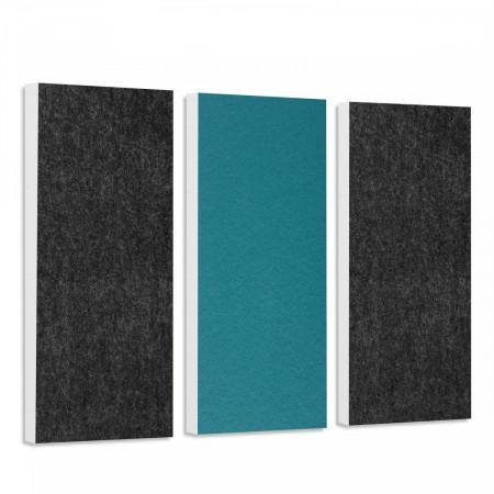 Basotect G+ Schallabsorber-Set Colore < 3 Elemente > Anthrazit + Petrol