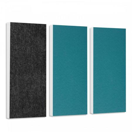 Basotect G+ Schallabsorber-Set Colore < 3 Elemente > Petrol + Anthrazit