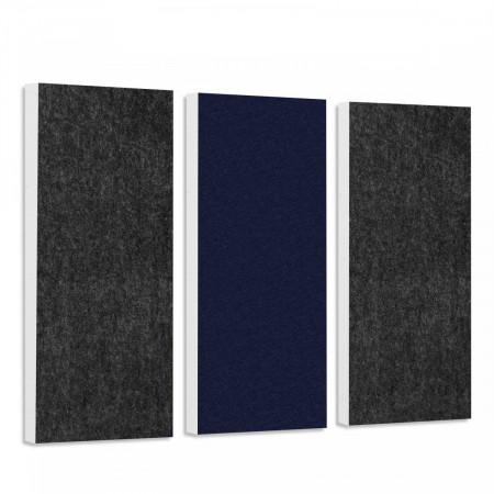 Basotect G+ Schallabsorber-Set Colore < 3 Elemente > Anthrazit + Nachtblau