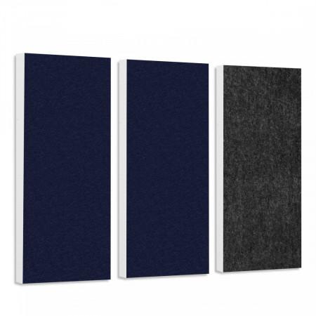 Basotect G+ Schallabsorber-Set Colore < 3 Elemente > Nachtblau + Anthrazit