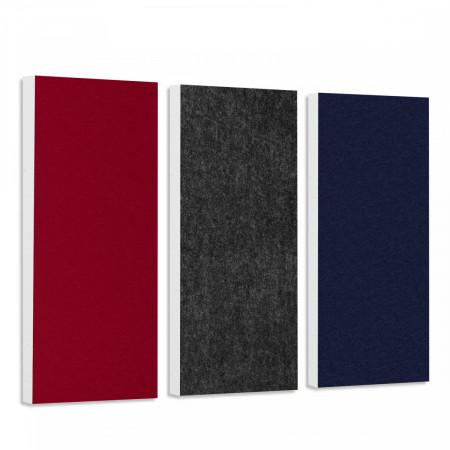 Basotect G+ Schallabsorber-Set Colore < 3 Elemente > Anthrazit + Nachtblau + Bordeaux