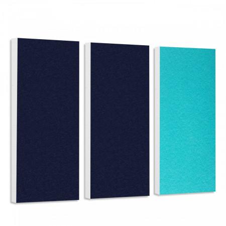 Basotect G+ Schallabsorber-Set Colore < 3 Elemente > Nachtblau + Türkis