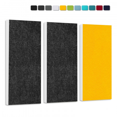 Basotect G+ Schallabsorber-Set Colore < 3 Elemente > Anthrazit + Sonnengelb