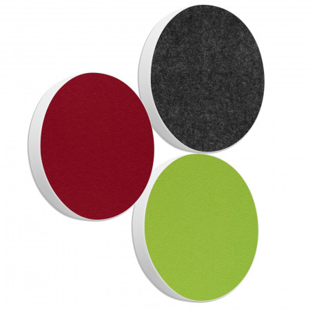 3 Basotect ® G+ Akustik Schallabsorber Kreis Multicolore-Set 06