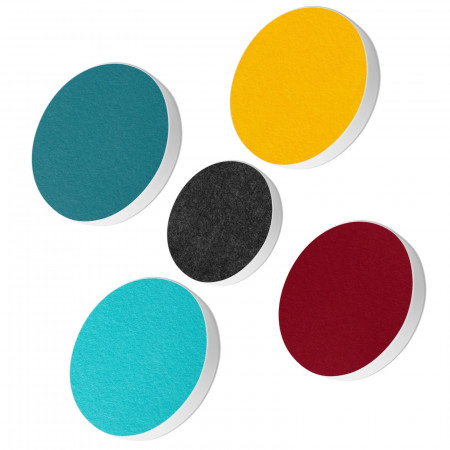5 Basotect ® G+ Akustik Schallabsorber Kreis Multicolore-Set 10
