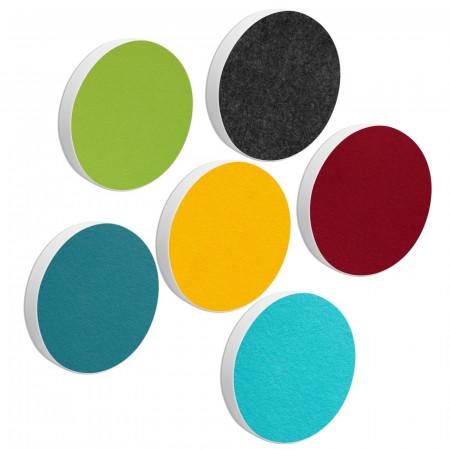 6 Basotect ® G+ Akustik Schallabsorber Kreis Multicolore-Set 15