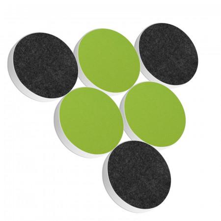 6 Basotect ® G+ Akustik Schallabsorber Kreis Multicolore-Set 21