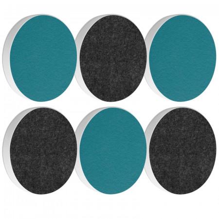 6 Basotect ® G+ Akustik Schallabsorber Kreis Multicolore-Set 19