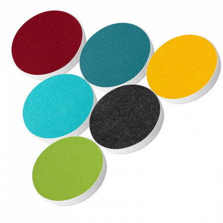 6 Basotect ® G+ Akustik Schallabsorber Kreis Multicolore-Set 13
