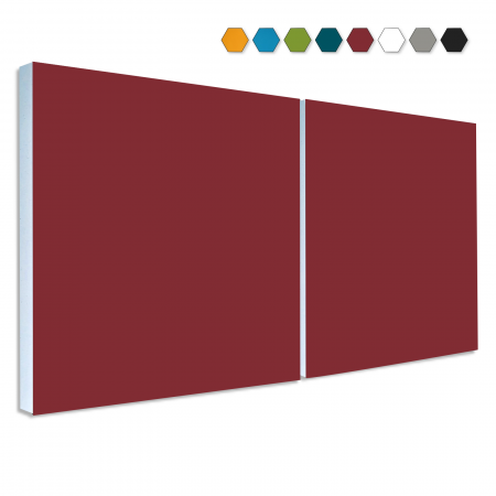 2 Basotect ® G+ Schallabsorber Akustik Schalldämmung je 55x55cm (Bordeaux)