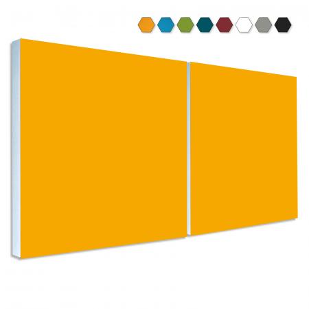 2 Basotect ® G+ Schallabsorber Akustik Schalldämmung je 55x55cm (Sonnengelb)