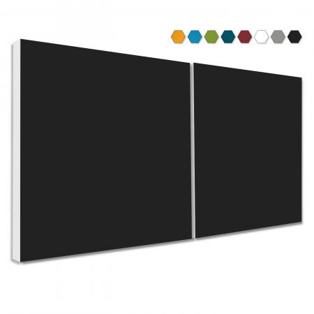 2 Basotect ® G+ Schallabsorber Akustik Schalldämmung je 55x55cm (Schwarz)