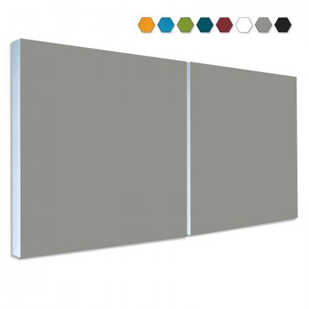 2 Basotect ® G+ Schallabsorber Element Schalldämmung je 55x55cm (Granitgrau)