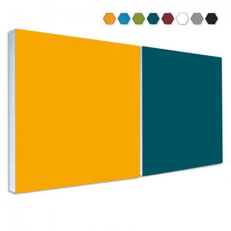 2 Basotect ® G+ Schallabsorber Akustik Schalldämmung je 55x55cm (MIX Set 04)