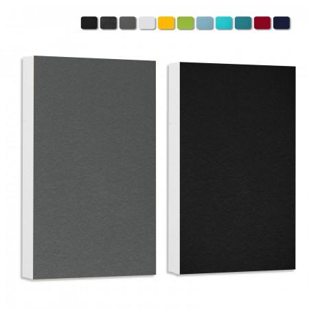 Basotect ® G+ Schallabsorber - 2 x Wandbild 82,5x55 cm Akustik Element Schalldämmung (Schwarz + Granitgrau)