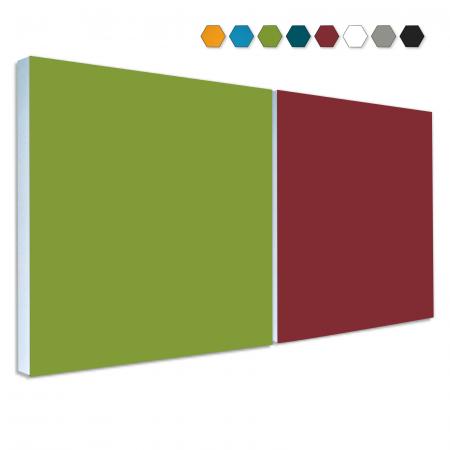 2 Basotect ® G+ Schallabsorber Akustik Schalldämmung je 55x55cm (MIX Set 08)