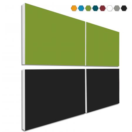 Basotect ® G+ Schallabsorber - 4 x Wandbild 82,5x55 cm Akustik Element Schalldämmung (MIX Set 05)