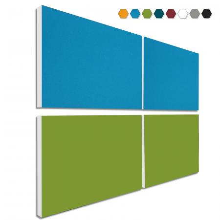 Basotect ® G+ Schallabsorber - 4 x Wandbild 82,5x55 cm Akustik Element Schalldämmung (MIX Set 07)