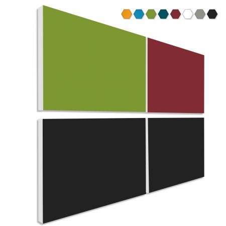 Basotect ® G+ Schallabsorber - 4 x Wandbild 82,5x55 cm Akustik Element Schalldämmung (MIX Set 11)