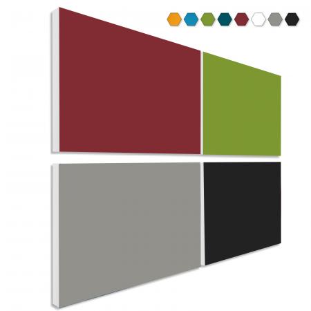 Basotect ® G+ Schallabsorber - 4 x Wandbild 82,5x55 cm Akustik Element Schalldämmung (MIX Set 12)