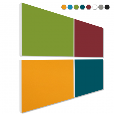 Basotect ® G+ Schallabsorber - 4 x Wandbild 82,5x55 cm Akustik Element Schalldämmung (MIX Set 13)