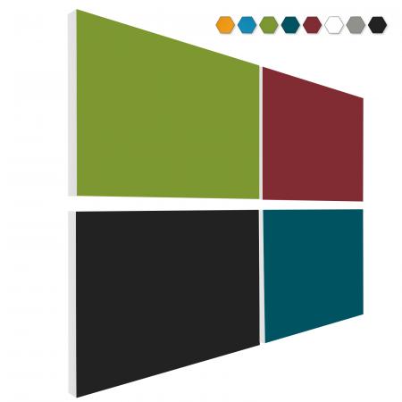 Basotect ® G+ Schallabsorber - 4 x Wandbild 82,5x55 cm Akustik Element Schalldämmung (MIX Set 14)
