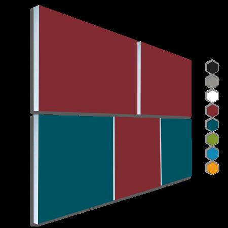 Basotect ® G+ Schallabsorber - 5 x Wandbild Akustik Element Schalldämmung (diverse Farben)
