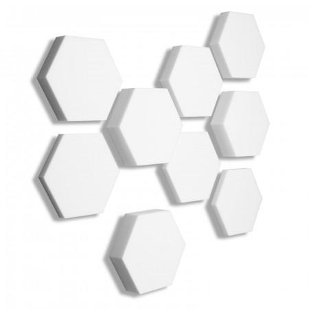 9x Basotect ® B WEISS 3D - Absorber Akustik Schallabsorption Breitbandabsorber Set #04