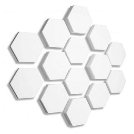 14x Basotect ® B WEISS 3D - Absorber Akustik Schallabsorption Breitbandabsorber Set #08