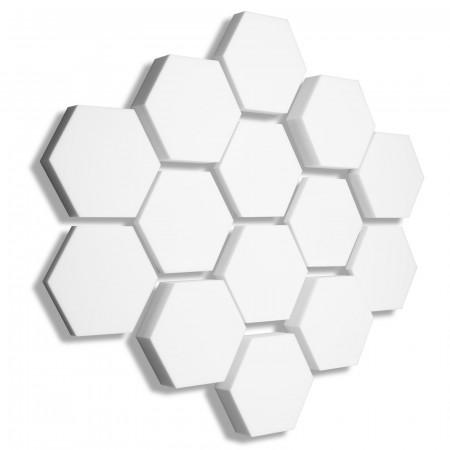 14x Basotect ® B WEISS 3D - Absorber Akustik Schallabsorption Breitbandabsorber Set #09