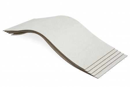 1 Pack mit 10 Bitumen-Matten + Vliesschicht in ALU-Optik - Typ BXS20  / XXL