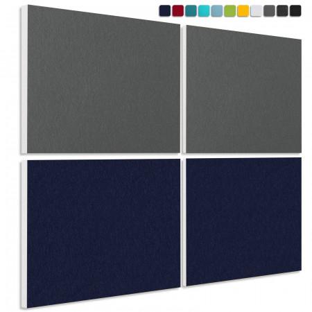 Schallabsorber aus Basotect ® G+ / 4 x Wandbild 82,5x55 cm Akustik Element Schalldämmung (Set 27)
