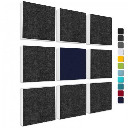 Wandbild Quadrate 9-tlg. Schalldämmung aus Basotect ® G+ / Schallabsorber - Elemente - Set 14