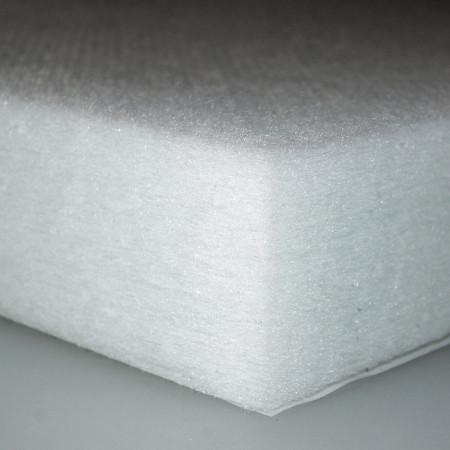 Polyester-Dämmvlies-Matte / Stärke 60mm / selbstklebend - RG: ca. 30kg/m³ - weiß