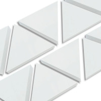 6 Absorber Dreiecke aus Basotect ® G+ / je 398 x 345 x 50 mm