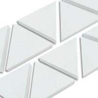 6 Absorber Dreiecke aus Basotect ® G+ / je 398 x 345 x 70 mm