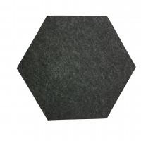 6 Absorber Wabenform Colore ANTHRAZIT / je 300 x 300 x 70mm