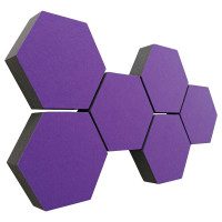 6 Absorber Wabenform Colore LILA / je 300 x 300 x 70mm