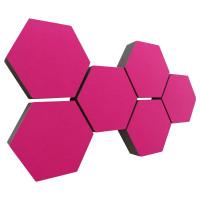 6 Absorber Wabenform Colore PINK / je 300 x 300 x 70mm