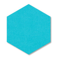6 Absorber Wabenform aus Basotect ® G+ / Colore TÜRKIS / je 2 Stück 300 x 300 x 30/50/70mm