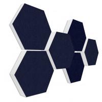 6 Absorber Wabenform Basotect ® G+ Colore DUNKELBLAU / je 2 Stück 300 x 300 x 30/50/70mm