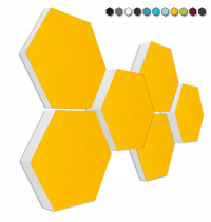6 Absorber Wabenform Basotect ® G+ Colore SONNENGELB / je 2 Stück 300 x 300 x 30/50/70mm