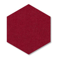 6 Absorber Wabenform Basotect ® G+ Colore BORDEAUX / je 2 Stück 300 x 300 x 30/50/70mm