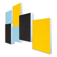 6 Absorber Rechtecke Basotect ® G+ Colore diverse Farben / je 2 Stück 30/50/70mm