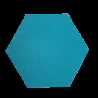 6 Absorber Wabenform Colore TÜRKIS / je 300 x 300 x 70mm