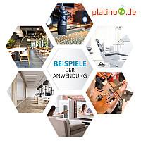 6 Absorber Wabenform aus Basotect ® G+ / Colore Dunkelblau + Bordeaux / je 2 Stück 300 x 300 x 30/50/70mm